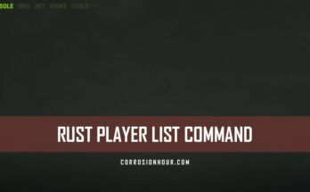 RUST Player List Command